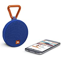 JBL Clip 2 Waterproof Portable Bluetooth Speaker (Certified Refurbished) … (Blue)