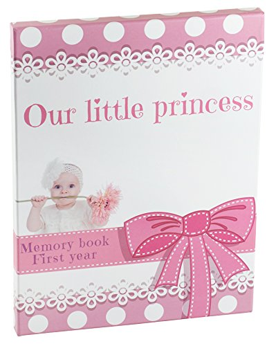 baby memory books for girls | Pink Keepsake Journal With 12 3D Magnetic Butterfly &15 Monthly Milestone Stickers