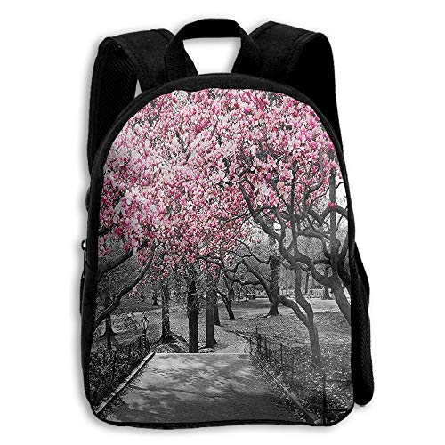 Blossoms In Central Park Cherry Bloom Trees Student Backpack School Backpack For Girls Boys For Middle School Cute Book Bag]()