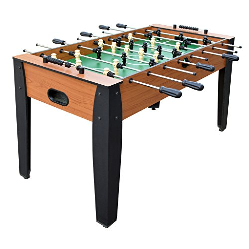 Table Action Soccer Foosball (Hathaway 54-Inch Hurricane Foosball Table for Family Game Rooms with Light Cherry Finish, Analog Scoring and Free Accessories)