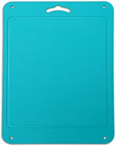 Kingneed Silicone Chopping Mat Flexible Thick Cutting Board Food Grade Material Odorless Two Sided Non-Slipping 0.15 inch Thickness, 12.6 x 9.6 inch for Kitchen (Blue)