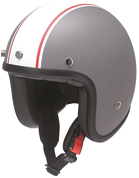 Redbike Jet Casco RB 754 Hot Rod gris claro mate ECE 22 – 05 Incluye Casco