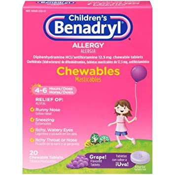 Benadryl Childrens Allergy Chewables (Pack of ...