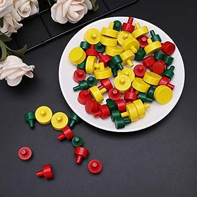 Youliy - Juego de 66 piezas de plástico para juegos de mesa, componentes, marcadores de mesa, artes y manualidades: Amazon.es: Hogar