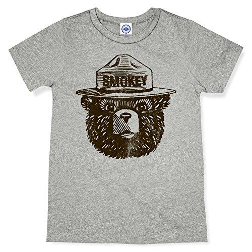 - Hank Player U.S.A. Official Smokey Bear Kid's T-Shirt (6, Heather Grey)