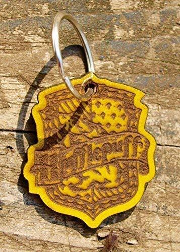 Hufflepuff Leather Keyring.