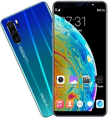 HSKB P31 Pro (2019) Smartphone sin Contrato, 8 Core 6,3 Pulgadas/Face Unlock/3800 mAh batería/800 W y 1600 W Dual Cámara 16 GB ROM/64 GB Ampliable Dual SIM Android 9,1 (UE) (Azul): Amazon.es: