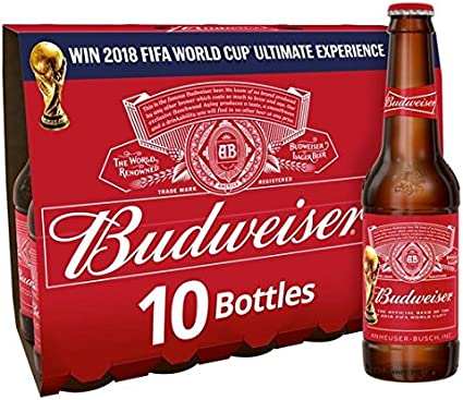 Botellas de cerveza Budweiser 10 x 300ml