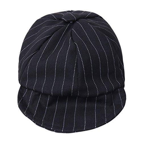 8750d9af5ea YiZYiF Baby Boys Gentlemen Striped Duck Bill Hat Sun Flat Cap ...