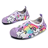 L-RUN Kids Water Shoes Boys Girls Barefoot Aqua Socks Purple 11-11.5=EU 28-29
