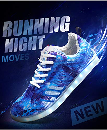 Flash Light Colori Led Women Sportive Men Scarpe For Moda Traspirante Uomo 7 Outdoor Cool Casual Blue Da And Skateboard Mesh Tecniche Lovers Shoes bianco01 tpqwEnxd5