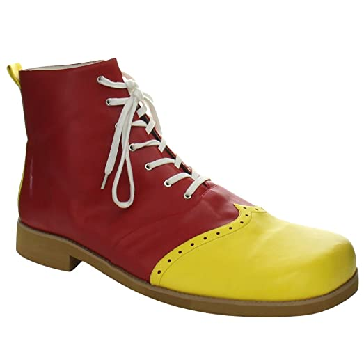 Women's Clown-01 Boots in Yellow-Red PU