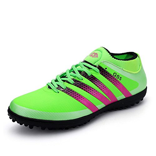 Leader show Womens Performance Soccer Shoe Outdoor Athletic Football Cleats Green-tf