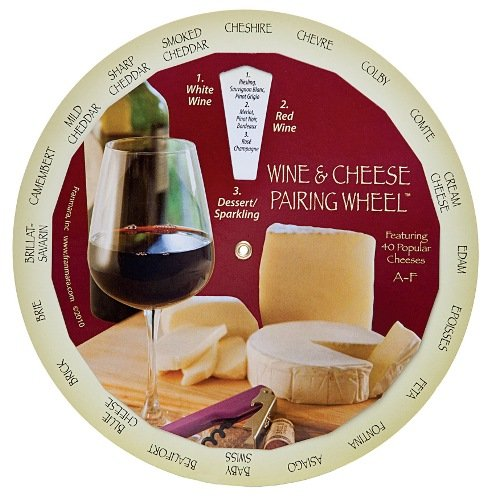 Complementary Wines and Cheeses Pairing Matching Guide Wheel (Cheese Pairing Guide)