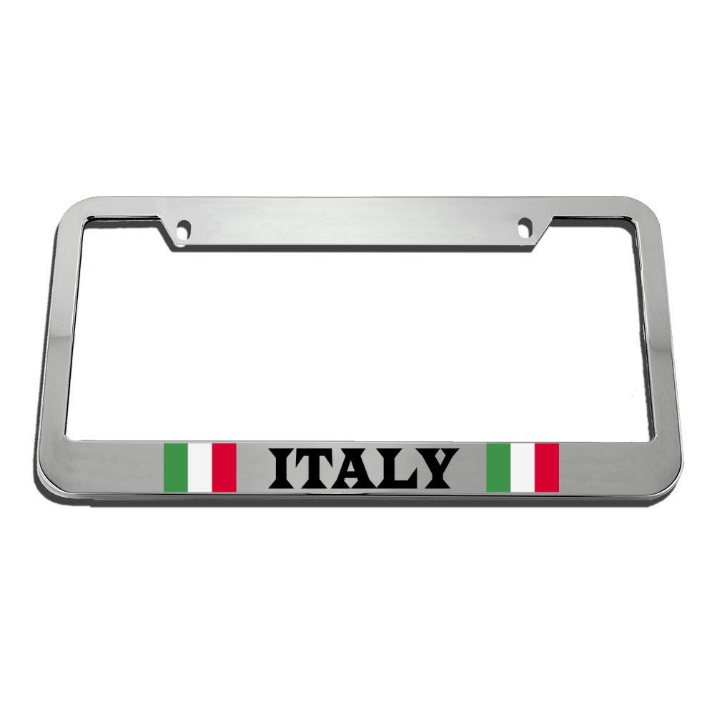 Speedy Pros Italy Italian Italiano Flag Country License Plate Frame Tag Holder