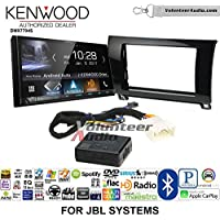 Volunteer Audio Kenwood DMX7704S Double Din Radio Install Kit with Apple CarPlay Android Auto Bluetooth Fits 2007-2013 Toyota Tundra, 2008-2013 Sequoia with Amplified Systems (Metallic Gray)