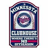MLB Minnesota Twins 11/17-Inch Traditional Look Wood Sign