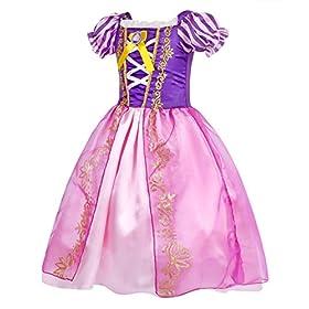 - 510prFXMguL - Cotrio Rapunzel Dress Up for Girls Halloween Princess Costume Birthday Theme Party Dresses