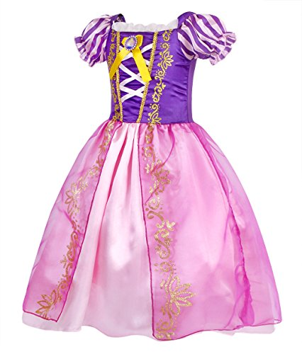HenzWorld Princess Costume Dresses Birthday Party Cosplay Role Play Outfit Puff Sleeve Ruffle Patchw - http://coolthings.us