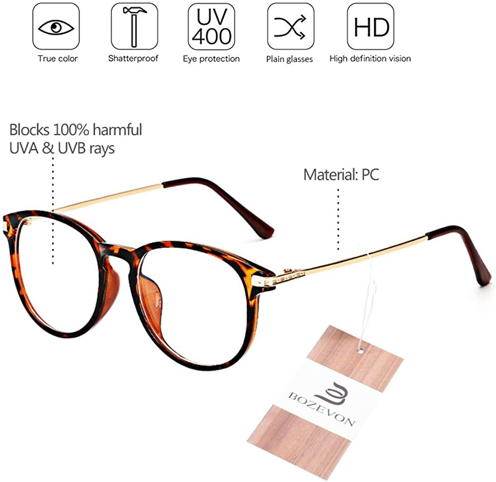 Gaming Glasses Anti Eyestrain Computer Reading Glasses TV Glasses for Women Men BOZEVON Blue Light Blocking Glasses