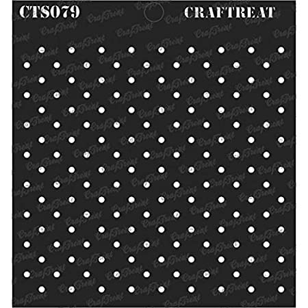 Floor Wood 6x6 inches Notebook Crafting Connected Hexagon Wall Tile Home Decor Scrapbook and Printing on Paper DIY Albums CrafTreat Stencil Reusable Painting Template for Journal Fabric