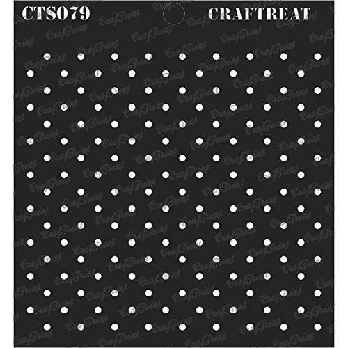 CrafTreat Stencil - Small Polka Dots | Reusable Painting Template for Journal, Notebook, Home Decor, Crafting, DIY Albums, Scrapbook and Printing on Paper, Floor, Wall, Tile, Fabric, Wood 6