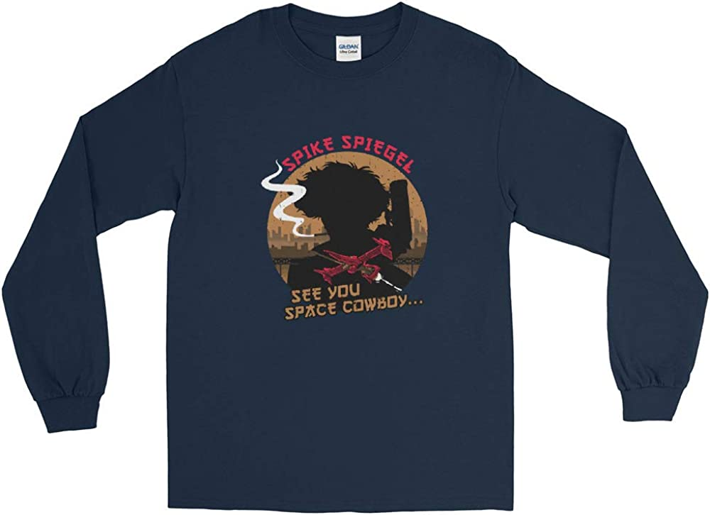 Spike Spiegel Space Cowboy Bebop Anime Cool Awesome Men//Women Unisex Long Sleeve Shirt