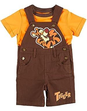 Winnie the Pooh Baby Boys Shortall Set 24 Month Brown