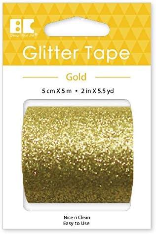 Gold Best Creation Glitter Tape 50mm//5m