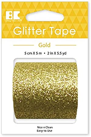Best Creation Glitter Tape 50mm//5m Gold