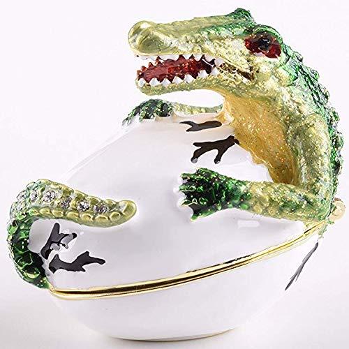 Keren Kopal Alligator Trinket Box Faberge Style Decorated with Swarovski Crystals Unique Home Decor (Alligator Box)