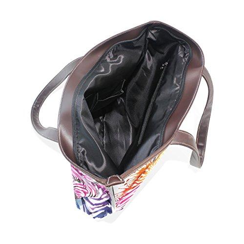 33x45x13 Gestire 001 Cm Tote Di Zebra Grandi Pu Spalla Cuoio Arcobaleno L Del Mano Multicolore Sacchetto Coosun qWtxzRawO6