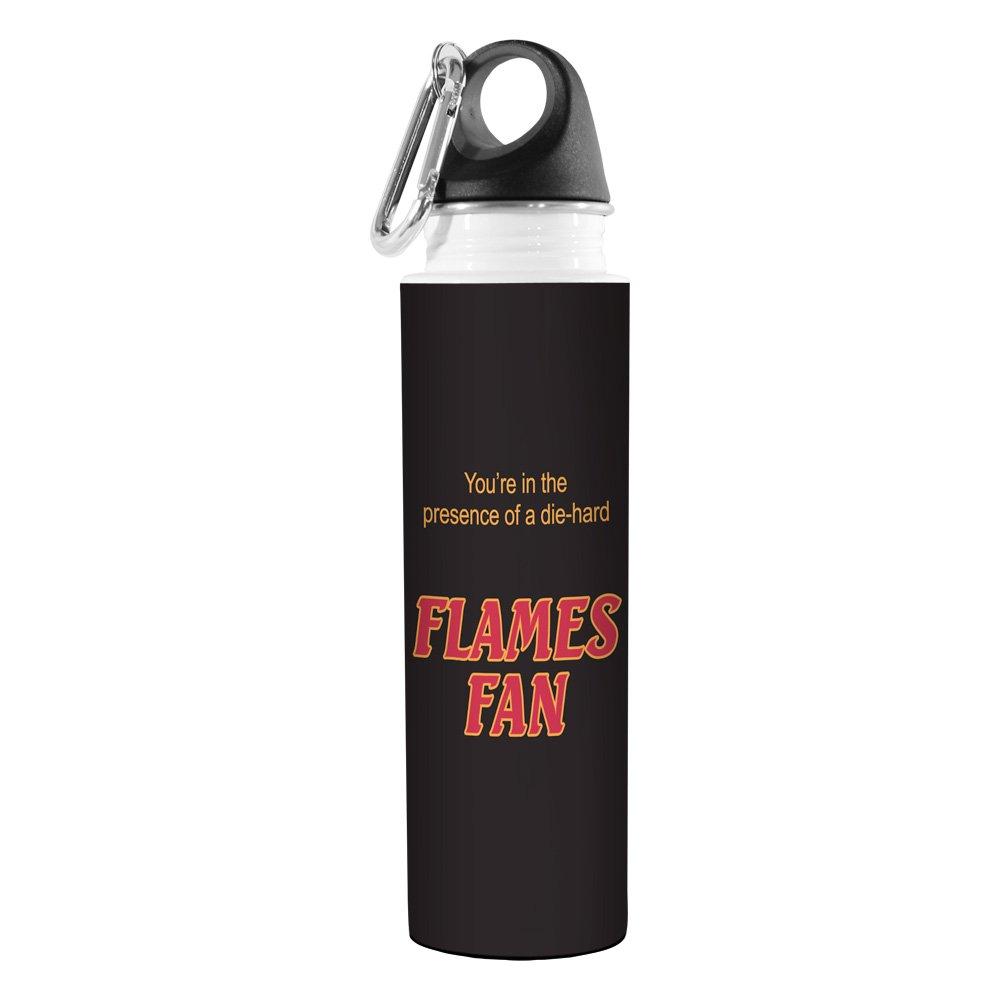 18-Ounce Tree-Free Greetings VB48173 Hockey Fan Artful Traveler Stainless Steel Water Bottle Flames