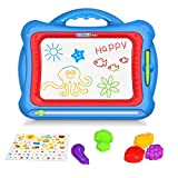 Geekper Magnetic Drawing Board, 15.75 Inch Erasable Colorful Magna Doodle Toys Writing Sketching Pad,Set with 5 Shape Stamps and Lovely Sticker