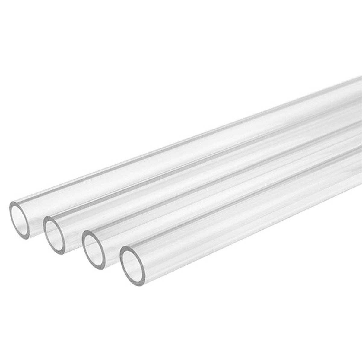 8mm ID 500mm Length Normal Temperature Barrow PETG Tubing Clear 4-Pack 12mm OD