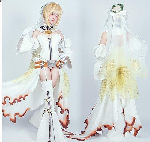 FGO Fate/Grand Order ネロ·クラウディウス 花嫁コスプレ衣装 豪華版 L M S XL