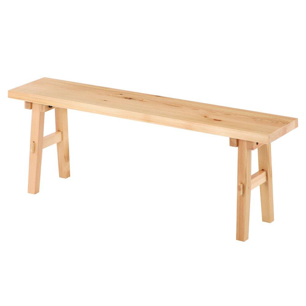 木製 ベンチ スツール ウッドベンチ 椅子 長椅子 玄関チェア ディスプレイ棚 ラック 〔幅120cm〕 ナチュラル B018X5Y2K2 Parent ナチュラル