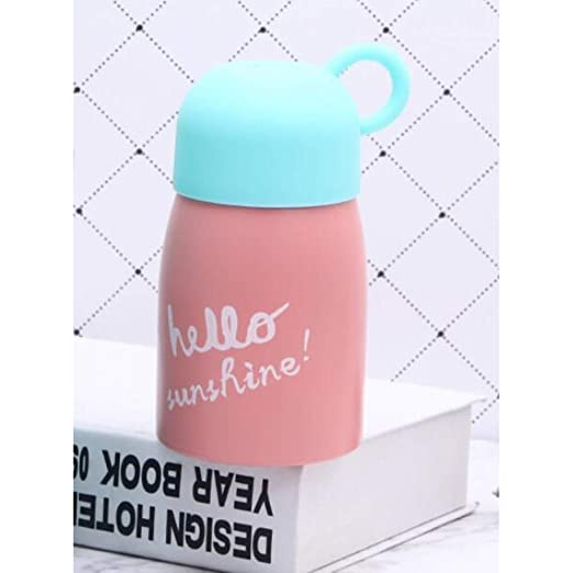 Mini botella de agua termo de vac/ío port/átil de acero inoxidable con aislamiento para ni/ños Orange 200 ml ypypiaol Botella de agua termo para ni/ños