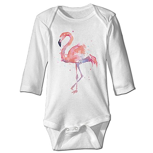 Costa Rica Costume Kids (Fashion Baby Boys & Girls Pink Flamingo Watercolor Long-sleeve Jumpers)