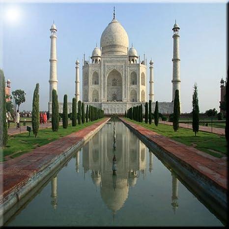 4 by 4-Inch Rikki Knight Taj Mahal Agra India Design Art Ceramic Tile