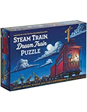 Steam Train, Dream Train Puzzle (Animal Puzzle for Toddlers, Children's Puzzle with Animals, Floor Puzzle with Big Pieces)