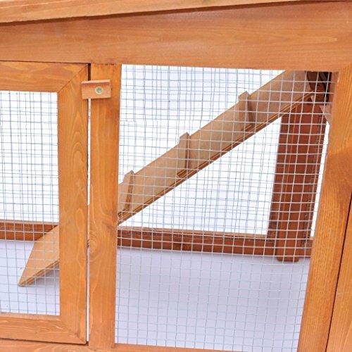 Vidaxl grande gabbia coniglio all 39 aperto casa piccoli for Piani domestici carini