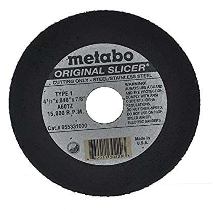 Image of Metabo Slicer Cut Off Wheel 4-1/2' X .040 Box Of 100 Home Improvements