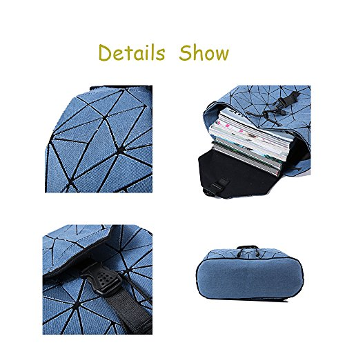 Bag for Purse Women Travel Geometric Handbag Backpack Men School Blue High and and qCwwn8XIO