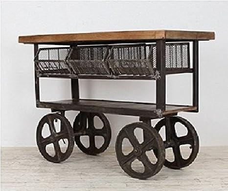 GELUSA Mueble Antiguo Vintage Cocina Industrial o Trolley de Cocina antigüedades: Amazon.es: Hogar