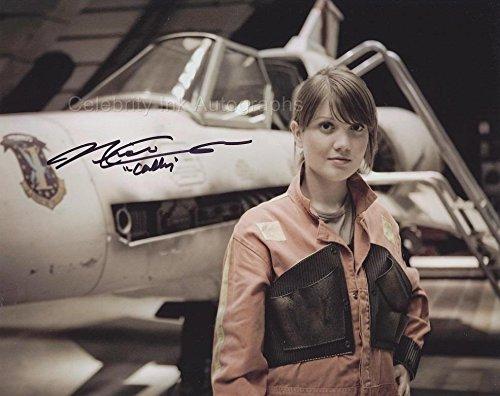 NICKI CLYNE as Cally Tyrol - Battlestar Galactica GENUINE AUTOGRAPH