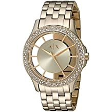 Armani Exchange Women's 'Smart' Quartz Stainless Steel Automatic Watch, Color:Gold-Toned (Model: AX5251)