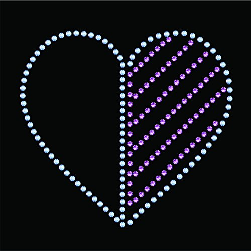 Rhinestone Heart Stencil - 3 x 3 inch (SS6 - 2mm) - Reusable Template for Hotfix Flatback AB and Swarovski Crystals - Use on Paper Projects, Fabric, Jeans, T-shirts...