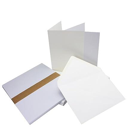 weiß weiss verschiedene Mengen Klappkarten DIN C6 Umschläge weiß