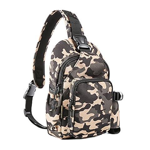 MYOLDSX Sling Bag Waterproof Crossbody Shoulder Backpack for Men Women Hiking Fit 9.7-Inch iPad - State Sling Backpack